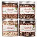 Cocktail Smoker Chips Wood Chips for Smoking Gun, Smoke Infuser Chips for Drink Smoker Box top, 4 PCS Whiskey Smoker Pack includes Cotton, Pecan, Pear, and Hickory Wood Chips for Smoker Grill