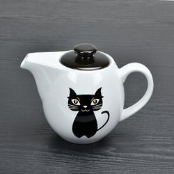 Winston Porter Alizet Teapot w/ Infuser Stoneware/Terracotta in White, Size 5.5 H x 7.25 W x 4.5 D in | Wayfair BDEBB7C9A31343009A9CD115B1B153E6
