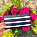 Kate Spade Bags | Like Kate Spade Laurel Way Sailing Stripe Stacy | Color: Black/White | Size: 3.5 H X 6.7 W