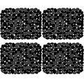 Coopay 4 Pack Kitchen Sink Mats Pebble Sink Mats PVC Eco-friendly Kitchen Adjustable Stainless steel/Porcelain Dish Drying Pad Sink Protector for Bottom of Kitchen Sink, 15.8 x 11.8 inches, Black