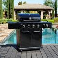 Kenmore 4 - Burner Free Standing Natural Gas 52000 BTU Gas Grill Cast Iron in Black/Gray, Size 45.4 H x 53.2 W x 21.8 D in | Wayfair PG-40409S0LB-1