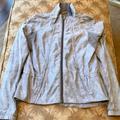 Lululemon Athletica Jackets & Coats | Lululemon Athletica Grey Floral Jacket | Color: Gray | Size: 8