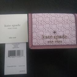 Kate Spade Accessories   Kate Spade Spade Link Micro Tri Fold Wallet Pink   Color: Pink   Size: Os