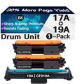 Iveyink Compatible Toner Cartridges Replacement for HP CF217A 17A, Compatible Drum Unit Replacement for HP CF219A 19A (Black, 2X Toner Cartridges+1x Drum Unit)