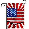 YATELI Garden Yard Flag 28x40 inch Double Sided,USA Flag,Seasonal Farmhouse Yard Flag Banners for Patio Lawn Outdoor Home Decor