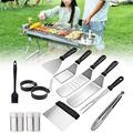 Sucpur BBQ Grill Accessories, Grilling Accessories BBQ Grill Tools Set Stainess Steel BBQ Tool Set for Men and Women Grilling Utensils Accessories 15Pcs Gift Kit for Barbecue Indoor Outdoor