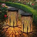 Solar Lantern for Outside, LED Solar Lamp IP44 Waterproof Hanging Pattern Solar Lights Solar Lantern Solar Garden Light Decorative for Garden, Patio, Yard, Sidewalk (2 Pieces) (Color : Warmwhite)