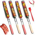 SKYWPOJU Grill Basket -BBQ Grill Accessories- Grill Basket Set of 4/8 - Pellet Smoker Tube - Grills, BBQ Smoker - Fish Grill Basket for Grilling Vegetables (Size : 4pcs)