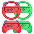 Grip for Nintendo Switch Controller - Hand Grips Controllers for Nintendo Switch Joy Con and Steering Wheels for Mario Kart Parties, Red and Green