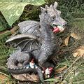 Garden Dragon Statue Outdoor Decoration, Garden Sculptures & Statues, Lovely Dragon Sculpture Ornaments Resin Garden Dragon Statue for Patio Yard Lawn Balcony Backyard Porch Gardening Gifts