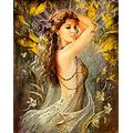 DIY 5D Diamond Painting Kits for Adults Beautiful Princess Sexy Woman Fairy Dancing Full Square Drill Diamond Art Accessory Cross Stitch Naked Beauty Gems for Wall Decoration Gift 40x50cm/16x20inch