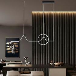 Orren Ellis Modern & Simple Led Chandelier (Black) Embedded Installation, Living Room, Bedroom, Dining Room, Porch, Dining Room, Kitchen Chandelier
