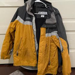 Columbia Jackets & Coats | Columbia Mens Outdoor Jacket | Color: Gray/Yellow | Size: M