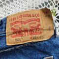 Levi's Jeans | Levi'S 501 Authentic Button Fly 38x29 Denim Jeans | Color: Blue | Size: 38x29