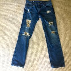 Levi's Jeans | Mens Levis 511 Ripped Jeans W32l32 | Color: Blue | Size: 34