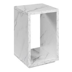 Latitude Run® Foust Floor Shelf End Table w/ Storage Wood in White, Size 24.0 H x 15.5 W x 15.5 D in | Wayfair R4-0571