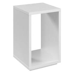 Convenience Concepts Floor Shelf End Table w/ Storage Wood in White, Size 24.0 H x 15.5 W x 15.5 D in   Wayfair R4-0570