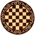 Safavieh Chelsea Geometric Hand Hooked Wool Brown/Ivory Area Rug Wool in Brown/White, Size 96.0 H x 96.0 W x 0.25 D in   Wayfair HK711B-8R