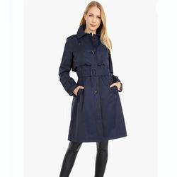 Kate Spade Jackets & Coats   New Kate Spade Scalloped Belted Hood Trench Coat   Color: Blue   Size: S