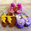 Disney Shoes | Little Girl Sandalshoes Bundle | Color: Purple | Size: 10g