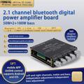 XY-S100H HIFI TPA3116D2 Bluetooth 5.0 Subwoofer amplificateur de Puissance Audio 50WX2 + 100W 2.1