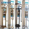 KEMAIDI robinet de bain autoportant douche montage au sol ensemble de douche mitigeur vanne 2