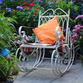 HBIAO ReclinersSingle Garden Chair, Metal Antique Garden Bench, Cast Iron Bench, Park Chair Seat, Patio Lounge Chairs, Outdoor Garden Furniture Decoration