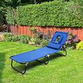 ReclinersRecliners Chairs & Sun Lounger, Folding Sunbed w/Face Hole & Removable Pillow, Lounge Chairs, Chaise Lounges for Garden Patio Backyard Lawn
