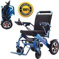 TTWUJIN Lightweight Wheelchair,Electric - Power Transport Chair - Lightweight, Foldable, Heavy Duty for Compact Airplane Travel - Motorized Long Range Large Dual Motor - Breathable and Washable Seat