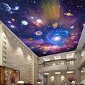 MAZF Custom Photo Wallpaper 3D Star Universe Galaxy Murals Wall Cloth Children's Bedroom Living Room Waterproof Ceiling Wallpaper 3 D 250 cm (B) x 200 cm (H)