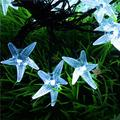 Solar Starfish String Lights,WONFAST Waterproof 20ft 30 LED Starfish Fairy String Lights with 2 Modes Christmas Solar String Lights for Garden, Wedding, Party and Holiday Decorations (White)