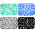 Coopay 4 Pack Kitchen Sink Mats Pebble Sink Mats Kitchen Adjustable Stainless steel/Porcelain Dish Drying Pad Sink Protector for Bottom of Kitchen Sink, 15.8 x 11.8 inches, Black, Gray, Blue, Green
