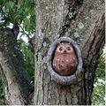 3D Garden Owl Tree Statue Knothole Owl Tree Sculpture Resin Garden Peeker Yard Art Owl Tree Hugger Outdoor Whimsical Tree Sculpture Garden Decoration (A)