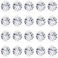 20 Pieces Crystal Ball Prism Crystal Ball Crystal Prism Ball Pendant Prism Window Rainbow Create with Chain for Home Garden Christmas Hanging Decoration, 20 mm
