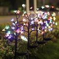 Garden Landscape Path Lights 10Pcs Solar Lights Outdoor, Solar Powered Landscape Tree Lights with Wider Solar Panel, Solar Garden Stake Flower Lights Waterproof Solar Decorative Lights for Pathway, Pa