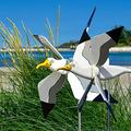 XIAOPING 2PCS-Whirligig Asuka Bird Series Windmill,Seagull Windmill Garden Decororations,Weathervane Garden Sculptures & Statues ,Yard Decor Lawn Wind Spinner