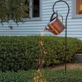 Solar Watering Can Light,Garden Art Light Hollow Light,Star Shower Light,Solar Garden String Lights Led Yard Romantic Decorations