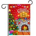 Garden Yard Flag Double Sided /28x40inch/ Polyester Welcome House Flag Banners,christmas tree fireplace candles
