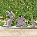 Nani?Wear Large Dragon Gothic Garden Decor Statue, Garden Statue Outdoor Dragon Resin Resistant Sculpture Ornaments, Funny Outdoor Figurine, Yard Art Sculptures & Statues, Resistant Statue for Garden