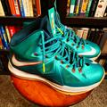 Nike Shoes   Nike Lebron X - Dolphin - Sz8 (Cond: 8.510)   Color: Green/Orange   Size: 8