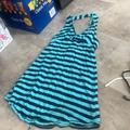 Free People Swim | Free People Blue And Black Swimsuit Cover Up | Color: Black/Blue | Size: Xs