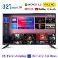 32 pouces Smart TV LED Android 9.0 WIFI FHD TÉLÉVISION DVB-T2/S2/C 1920*1080p Netflix YouTube