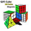 Qiyi – Cube magique magnétique pyramide, série 3x3x3, 4x4x4, Puzzle sans autocollant, 2x2x2, 5x5x5,