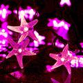 Solar Starfish String Lights,WONFAST Waterproof 20ft 30 LED Starfish Fairy String Lights with 2 Modes Christmas Solar String Lights for Garden, Wedding, Party and Holiday Decorations (Pink)