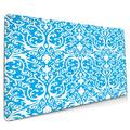 OcuteO XXL Mouse Pad Turquoise Damask Blue Gaming Mouse Pad, Mouse Pad for Women, Extended Mouse Pad, Keyboard Mouse Pad, Long Mouse Pad, Laptop Mouse Pad, 35.5 x 15.7 Mouse Pad Non-Slip