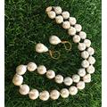 BDC-01493 Beads DIY Crafts 11-13mm White South SEA Baroque Shell Pearl Necklace Earrings 14KGold-Plated - ( Style: Necklace + Earrings )