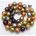 BDC-08759 Beads DIY Crafts Genuine 10-12mm South Sea Multi-Color Baroque Shell Pearl Necklace 18'' Magnetic Clasp