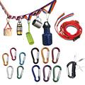 Rainbow Color Campsite Storage Strap with 12 Loops | Camping Gear Strap | Camping Rope| Camping Storage Lanyard for Gear and Equipment |Strap for Camping with 12pcs Carabiner Hooks | Clothesline