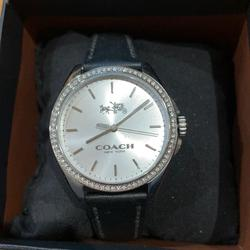 Coach Accessories   Coach Watch With Diamond Accent Bezel   Color: Black/Silver   Size: One Size