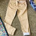Victoria's Secret Jeans | Boyfriend Cropped Polka Dot Jeans | Color: Tan/White | Size: 8